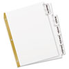 AVE11122 WorkSaver Big Tab Dividers, Clear Tabs, 5-Tab, Letter, White AVE 11122