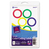 AVE05497 Print or Write Removable Color-Coding Labels, 1-1/4in dia, Neon Red, 400/Pack AVE 05497