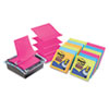 Post-it Pop-up Notes Super Sticky Pop-Up Dispenser Value Pack with Assorted 3 x 3 Refills