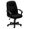 BSXVL601VA10 VL601 Series Managerial Mid-Back Swivel/Tilt Chair, Black Fabric & Frame BSX VL601VA10