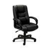 BSXVL131EN11 VL131 Executive High-Back Chair, Black Vinyl BSX VL131EN11