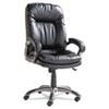 OIFGM4119 Executive High-Back Swivel/Tilt Leather Chair, Black OIF GM4119