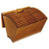 GLWR119ALHD Accordion Files with Flap, 21 Pockets, 1/3 Tab, Letha Tone, Legal, Brown GLW R119ALHD