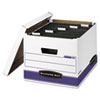 FEL00785 Hang 'N' Stor Storage Box, Legal/Letter, Lift-off Lid, White/Blue, 4/Carton FEL 00785