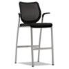 HONN709NT10T1 Nucleus Series Café-Height Stool, Black ilira-stretch M4 Back, Black Seat HON N709NT10T1