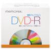 MEM05669 DVD-R Discs, 4.7GB, 16x, w/Slim Jewel Case, Silver, 10/Pack MEM 05669