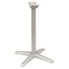 HONTXLEGSHT1 Aluminum Standing-Height X-Leg Base, 26-3/4w x 26-3/4d x 40-7/8h, Platinum HON TXLEGSHT1