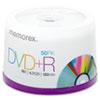 MEM05619 DVD+R Discs, 4.7GB, 16x, Spindle, Silver, 50/Pack MEM 05619