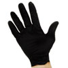 IMP8642L ProGuard Disposable Nitrile Gloves, Powder-Free, Black, Large, 100/Box IMP 8642L