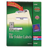 AVE5766 Self-Adhesive Laser/Inkjet File Folder Labels, Blue Border, 1500/Box AVE 5766