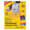 AVE6582 Permanent I.D. Labels, 1 2/3