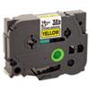 BRTTZES641 TZe Extra-Strength Adhesive Laminated Labeling Tape, 3/4w, Black on Yellow BRT TZES641