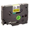 BRTTZES631 TZe Extra-Strength Adhesive Laminated Labeling Tape, 1/2w, Black on Yellow BRT TZES631