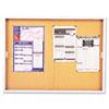 QRTD2405 Enclosed Bulletin Board, Cork Over Fiberboard, 72 x 48, Aluminum Frame QRT D2405