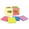 MMM654144B Note Bonus Pack Pads, 3 x 3, Canary Yellow/Ast.,100-Sheet 18/Pack MMM 654144B