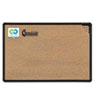 BLT300PBT1 Black Splash-Cork Board, 36 x 24, Natural Cork, Black Frame BLT 300PBT1