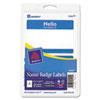 AVE5141 Print/Write Self-Adhesive Name Badges, 2-11/32 x 3-3/8, Blue, 100/Pack AVE 5141