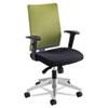 SAF7031WA Tez Series Manager Synchro-Tilt Task Chair, Black Mesh Back, Green Fabric Seat SAF 7031WA