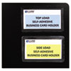 C-Line Self-Adhesive Business Card Holders