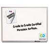 QRT2548 Magnetic Dry-Erase Board, Porcelain, 96 x 48, White, Aluminum Frame QRT 2548