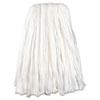 UNSBW224 Nonwoven Cut End Edge Mop, Rayon/Polyester, 24 oz, White, 12 per Carton UNS BW224
