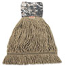 UNS8200L Patriot Looped End Wide Band Mop Head, Large, Green/Brown, 12/Carton UNS 8200L