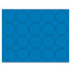 BVCFM1601 Interchangeable Magnetic Characters, Circles, Blue, 3/4