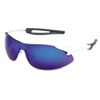 CRWIA138B Inertia Safety Glasses, White Frame, Blue Diamond Mirror Lens, One Size CRW IA138B