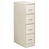 EFS41107 Four-Drawer Economy Vertical File, 15w x 26-1/2d x 52h, Light Gray EFS 41107