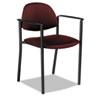 GLB2171BKPB07 Comet Series Stacking Arm Chair, Burgundy Polypropylene Fabric, 3/Carton GLB 2171BKPB07