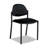 GLB2172BKPB09 Comet Series Armless Stacking Chair, Black Polypropylene Fabric, 3/Carton GLB 2172BKPB09