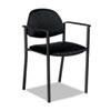 GLB2171BKPB09 Comet Series Stacking Arm Chair, Black Polypropylene Fabric, 3/Carton GLB 2171BKPB09