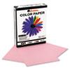 UNV11204 Colored Paper, 20lb, 8-1/2 x 11, Pink, 500 Sheets/Ream UNV 11204
