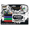 SAN1779004 Stained Permanent Fabric Marker, Assorted, 4/Set SAN 1779004