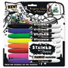 SAN1779005 Stained Permanent Fabric Marker, Assorted, 8/Pack SAN 1779005