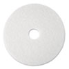 3M White Super Polish Floor Pads 4100