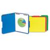 UNV13521 Manila Folders, 2 Fasteners, 1/3 Tab, Letter, Blue, 50/BX UNV 13521