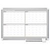 BVCGA05105830 MasterVision 4 Month Planner, 48x36, White/Silver BVC GA05105830