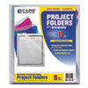 CLI62110 Project Folders with Dividers, Letter, 1/3 Tab, Clear/Colored, 5/PK CLI 62110
