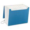 SMD70769 SuperTab Accordion Expanding File, 12 Pockets, Letter, Blue, 1/EA SMD 70769