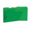 UNV13522 Manila Folders, 2 Fasteners, 1/3 Tab, Letter, Green, 50/BX UNV 13522