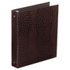 Crocodile embossed binder covers made of recycled materials. Heavy-duty round rings.