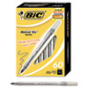 BICGSM609BK Round Stic Ballpoint Pen, Black Ink, Medium Point, 1.0 mm, 60 per Box BIC GSM609BK