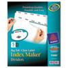 AVE11490 Index Maker with Big Tab, 11x8-1/2, 5-Tab, White AVE 11490