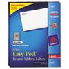AVE5167 Easy Peel Laser Address Labels, 1/2 x 1-3/4, White, 8000/Box AVE 5167