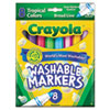 CYO587816 Washable Markers, Conical Point, Tropical Colors, 8/Set CYO 587816