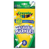 CYO587836 Washable Markers, Fine Point, Bold Colors, 8/Set CYO 587836