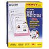 CLI62023 Heavyweight Polypropylene Sheet Protector, Clear, 11 x 8 1/2 CLI 62023