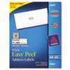 AVE8460 Easy Peel Inkjet Address Labels, 1 x 2-5/8, White, 3000/Box AVE 8460