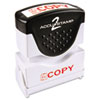 COS035594 Accustamp2 Shutter Stamp with Microban, Red, COPY,  1 5/8 x 1/2 COS 035594